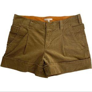 Vince Brown Corduroy Cuffed Shorts